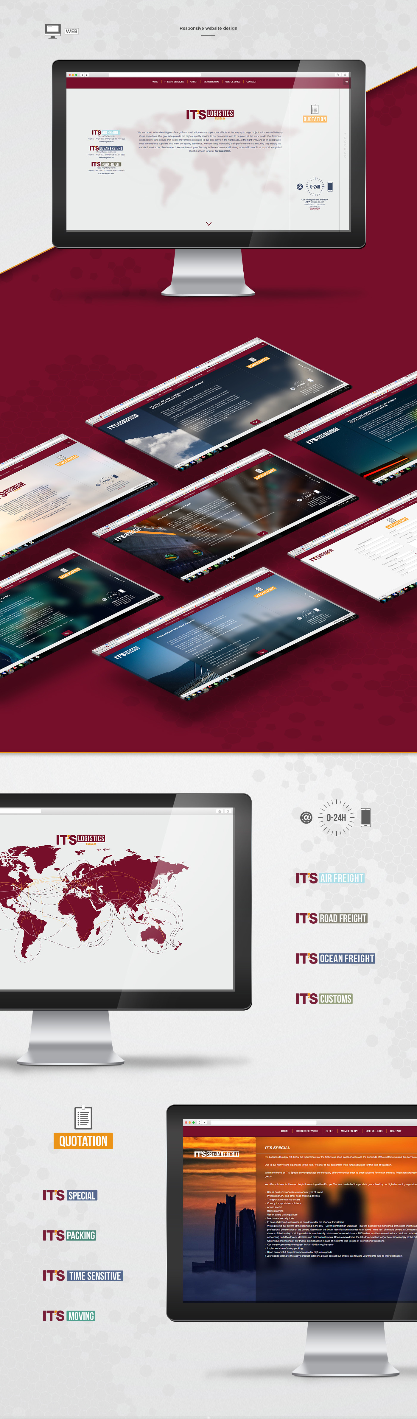IT'S Logistics / Corporate Website Design - 1 by REMION Design Studio