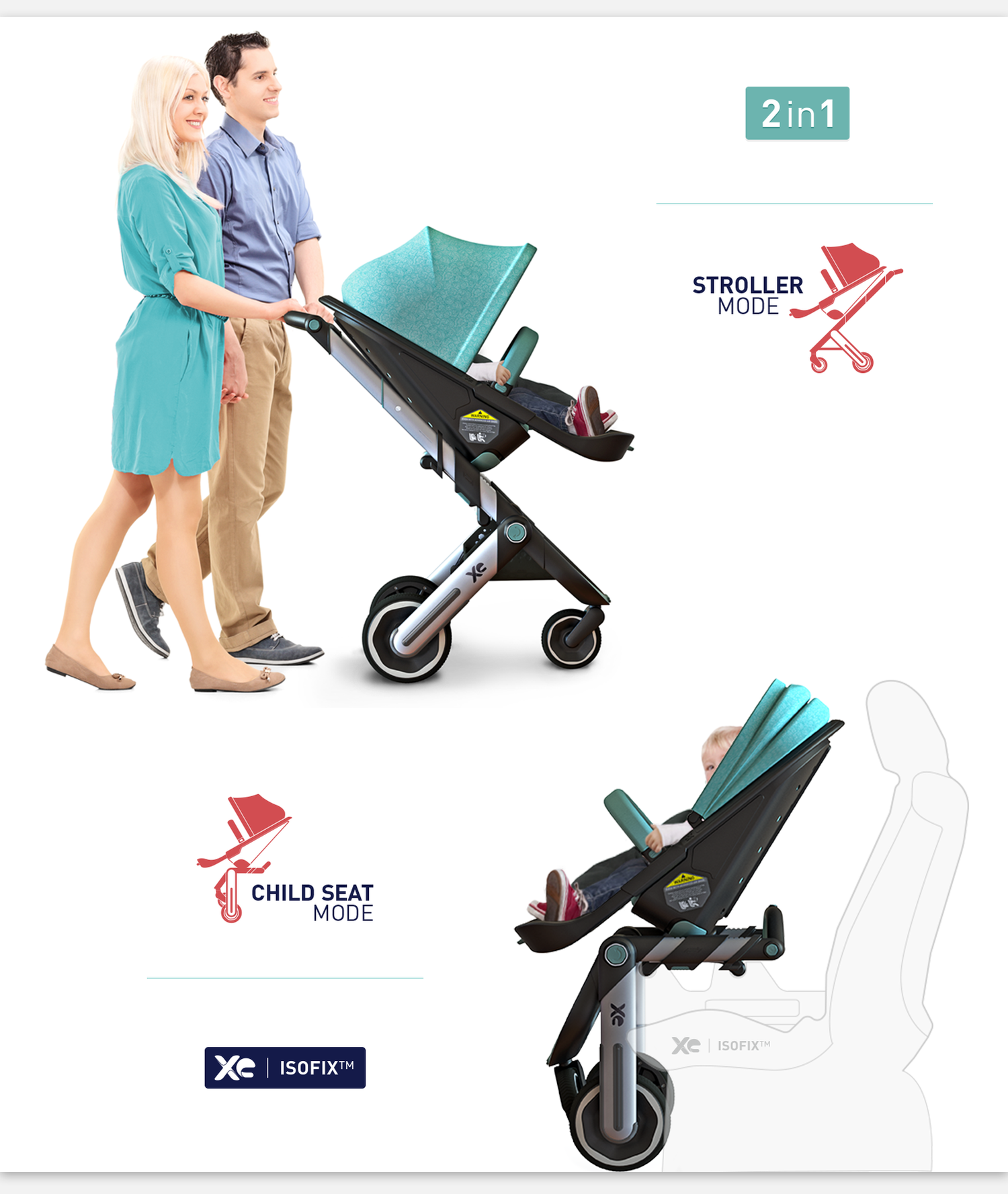 XE / The stroller and child seat - 1 by REMION Design Studio
