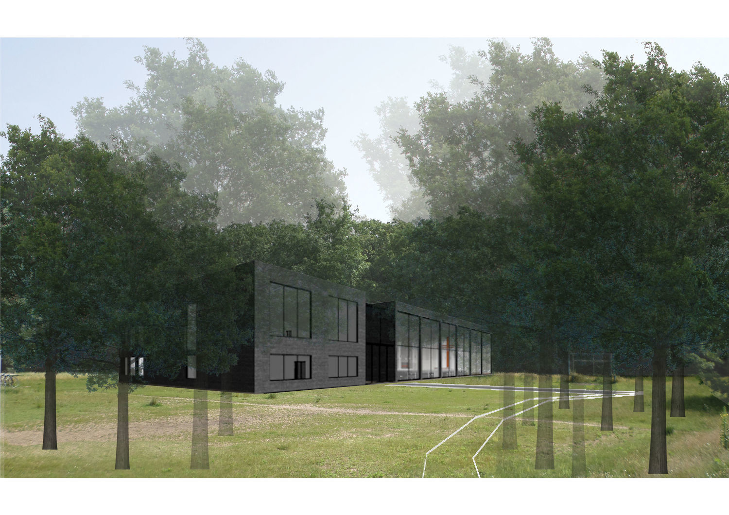 Ecumenical church and community centre in the forest of Péterhalom - Diploma project - 1 by Király  Edina