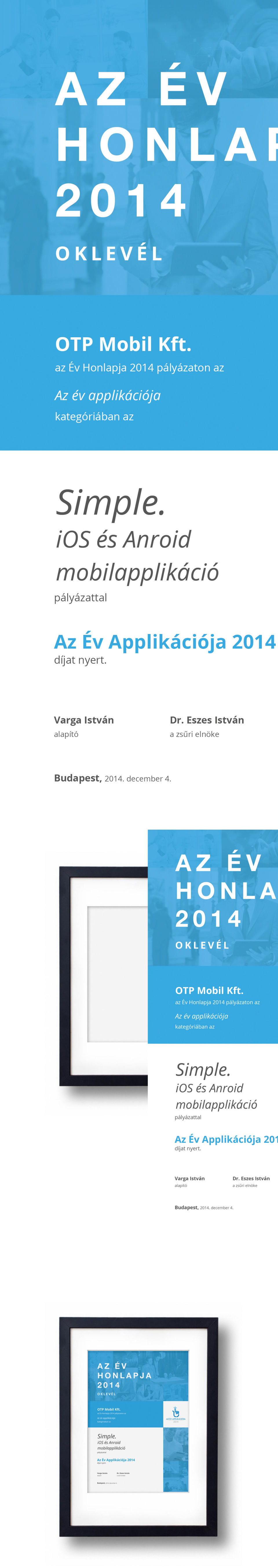 Website of the Year Competition, diploma graphic - 1 by erosbalazs