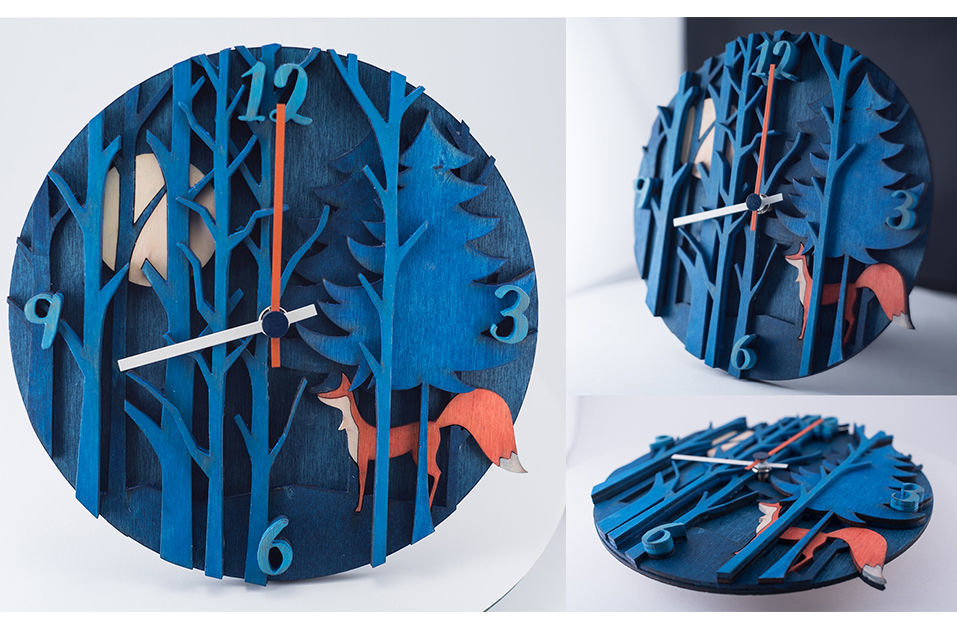 IOOI -fairytale wood clock - 1 by a.csiszer