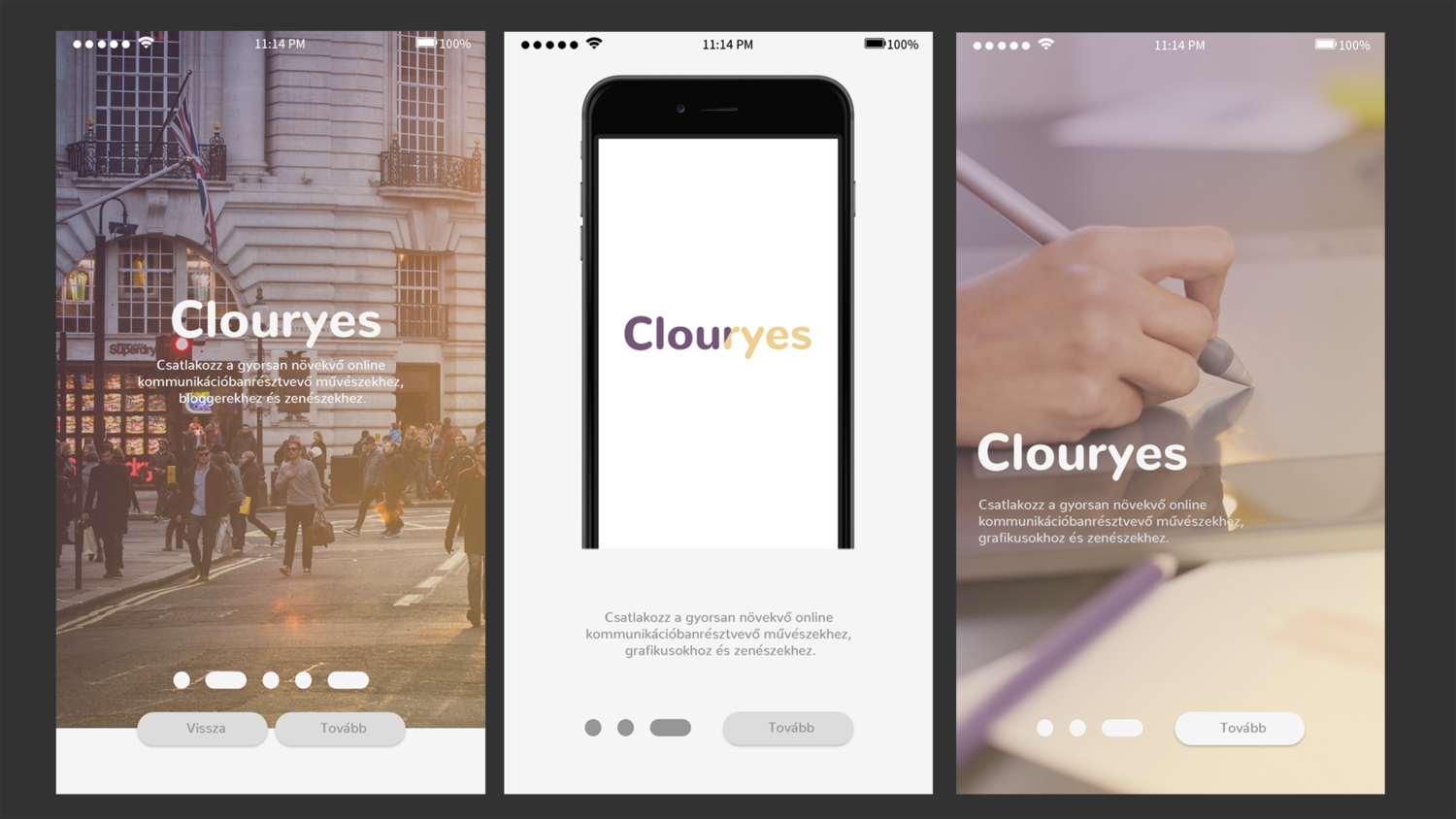 Clouryes Mobile App - 1 by Ponicsán Tamás