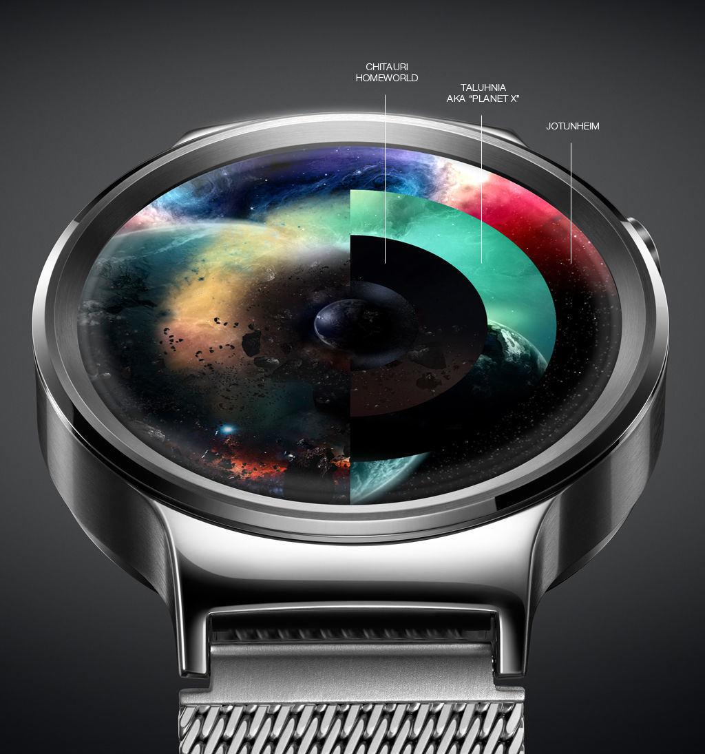 Avengers UI Concept for android watch - 1 by erosbalazs