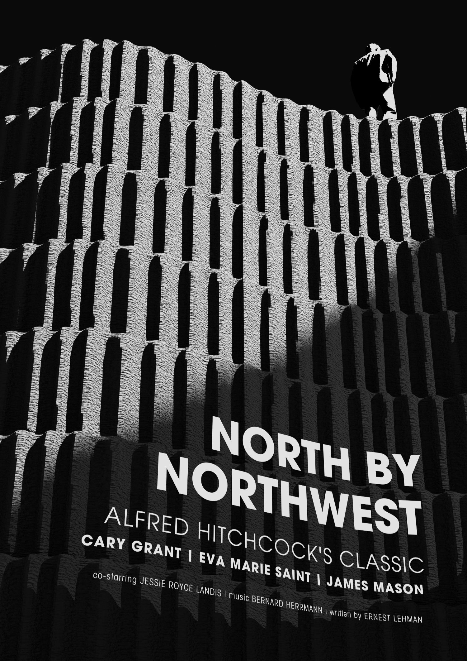 Hitchcock: North by Northwest plakátterv - 1 by Róth Barnabás