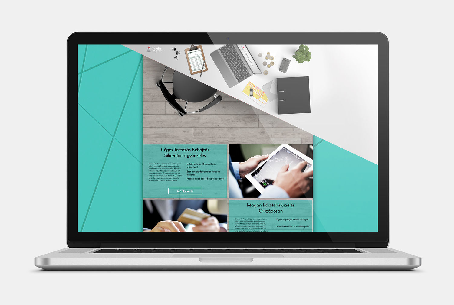 Finance themed microsite design - 1 by Design Donum