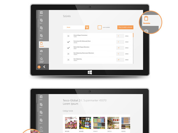Lead System windows tablet app
