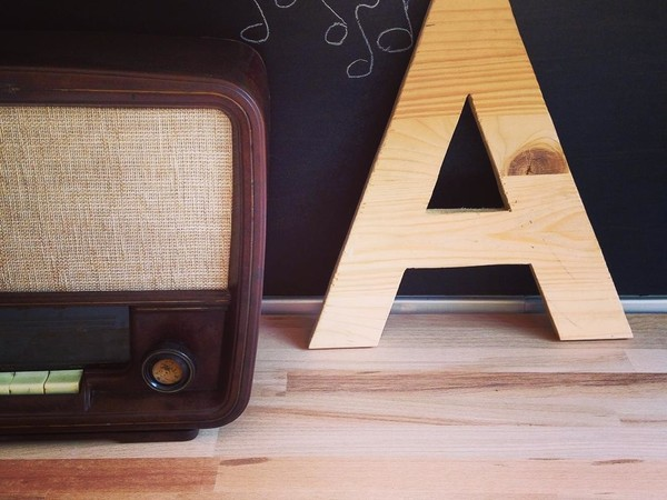 Wooden letter deco by Rustycity
