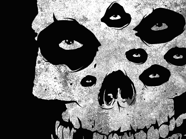 Misfits Fiend Skull recreation - artphetamin x heavygifts