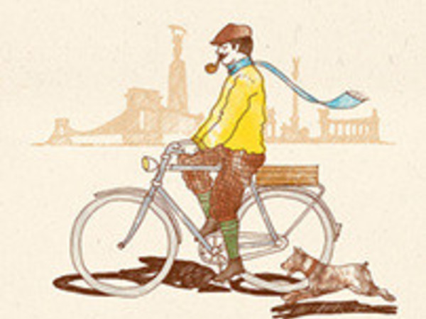 Tweed Run Budapest 2014 poster and tote bag design