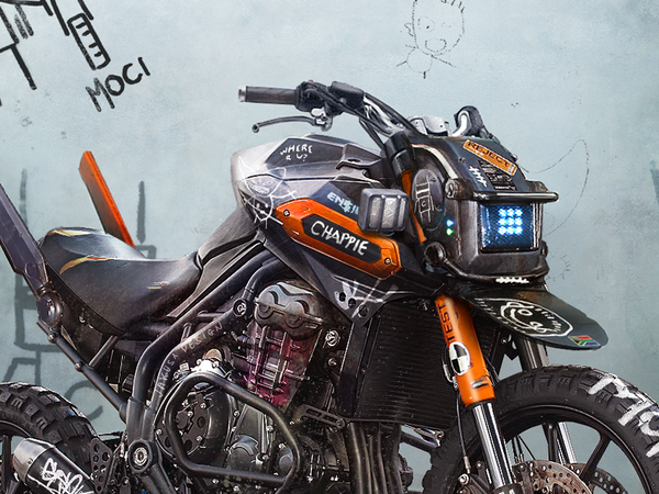 Chappie inspired motorcycle