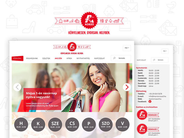 Auchan korzó website - 2015
