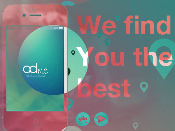 adMe - Store & sale finder app landing page