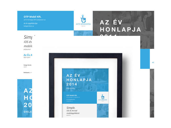 Website of the Year Competition, diploma graphic