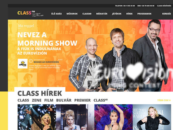 ClassFM Radio Logo and website redesign concept