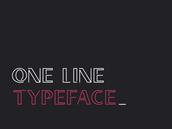 one line typeface