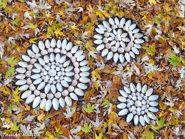 Land art mandala