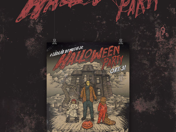 Halloween party / Plakát design /
