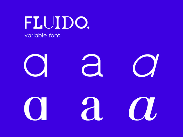 FLUIDO. variable font + website